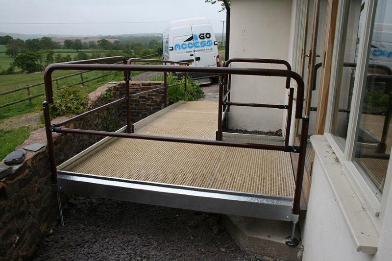 Disabled wheelchair ramp