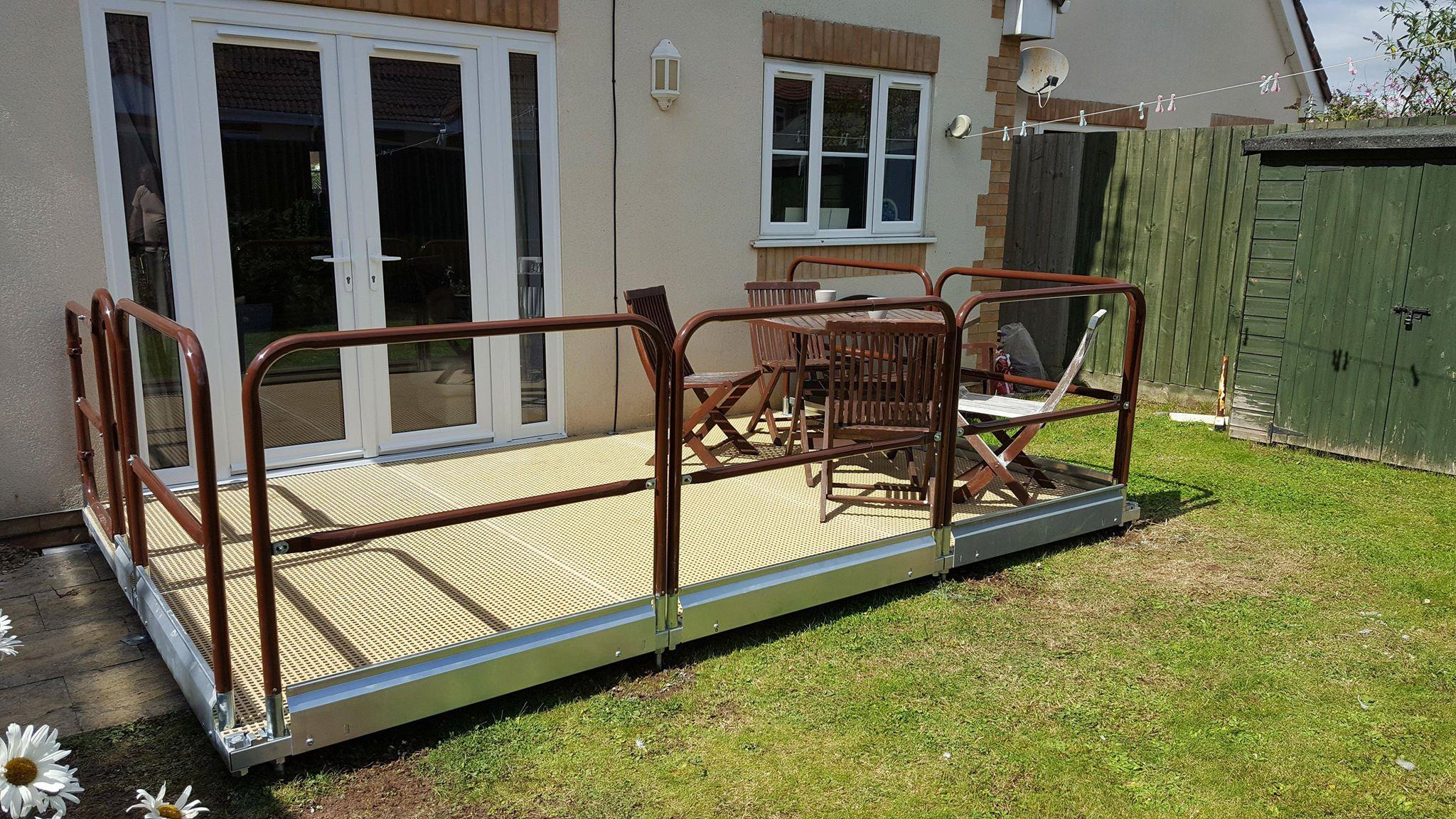 Disabled wheelchair platform