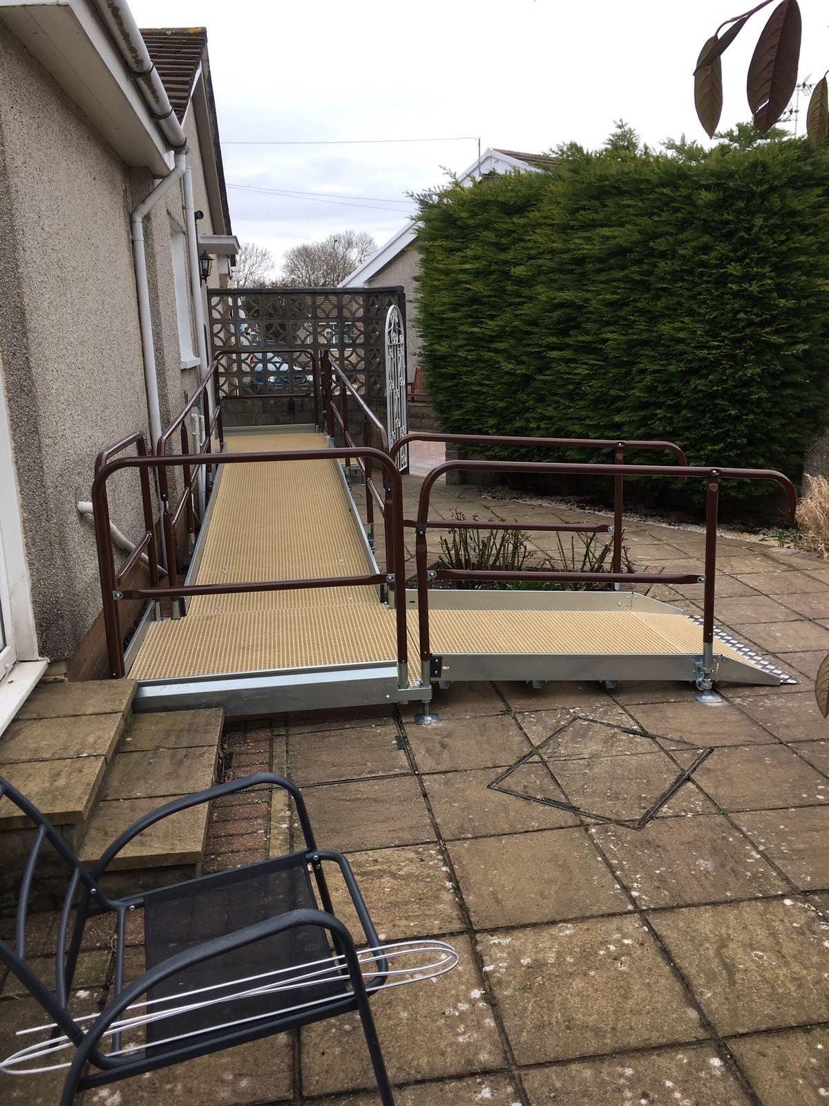 Disable ramp along building