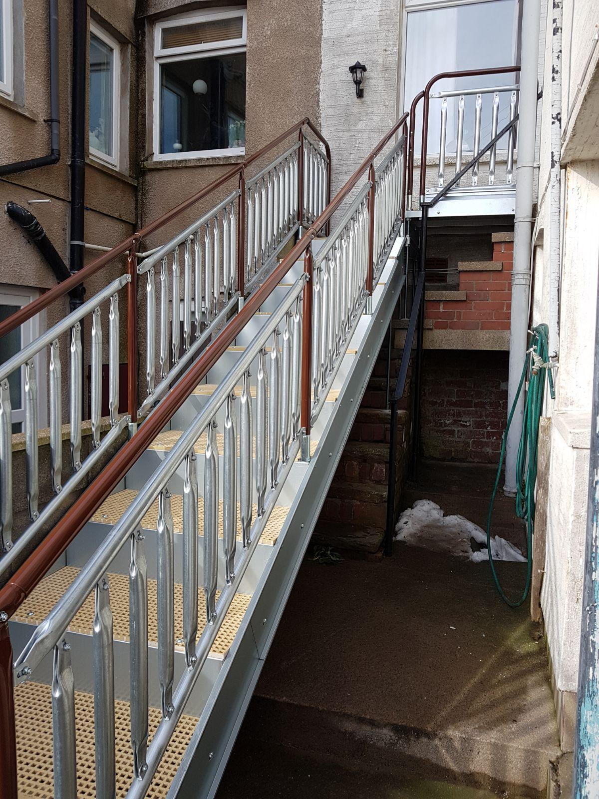 Large Disabled steps Close up