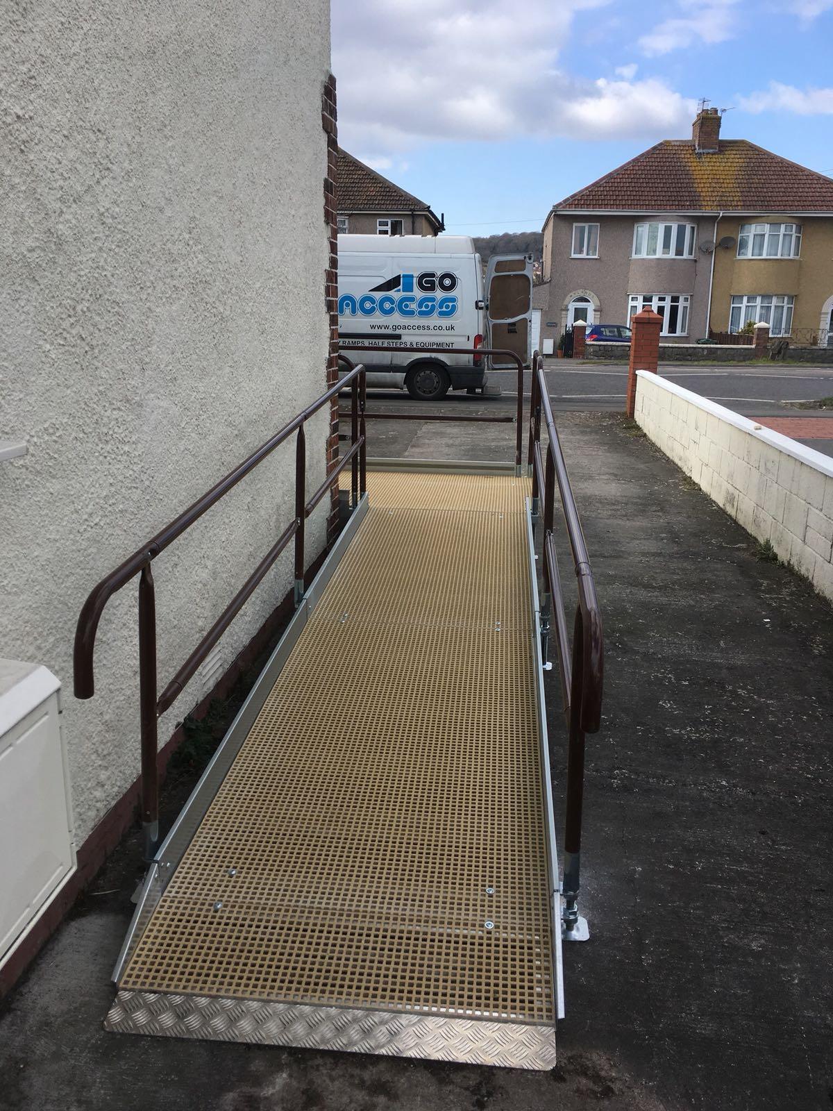 Disabled ramp around corner